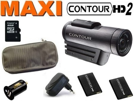 Cam�ra sport Contour HD Plus + GPS Version 2 MAXIPACK