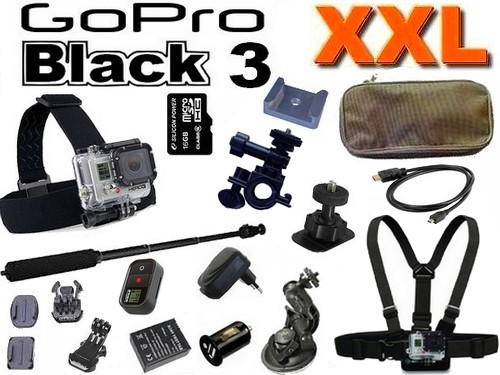 Cam�ra GoPro HD Hero 3 Black Edition Pack XXL