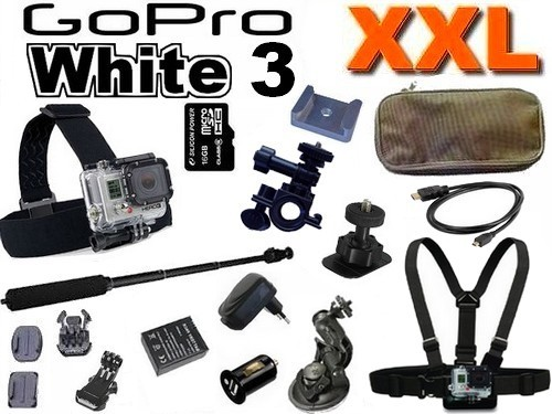 Cam�ra GoPro HD Hero 3 White Edition Pack XXL